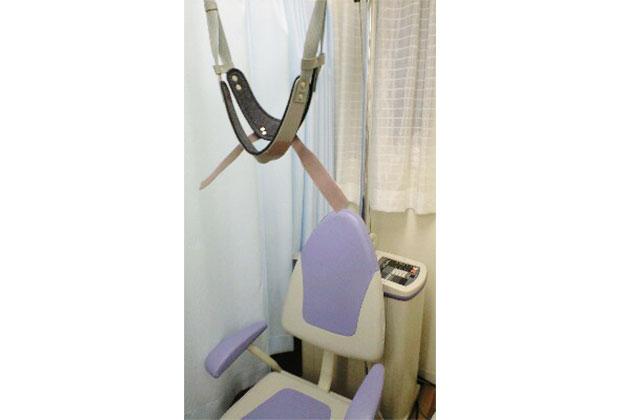 頚椎の牽引治療器