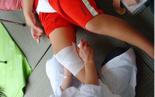 地域交流関町ちびっ子相撲大会3救護